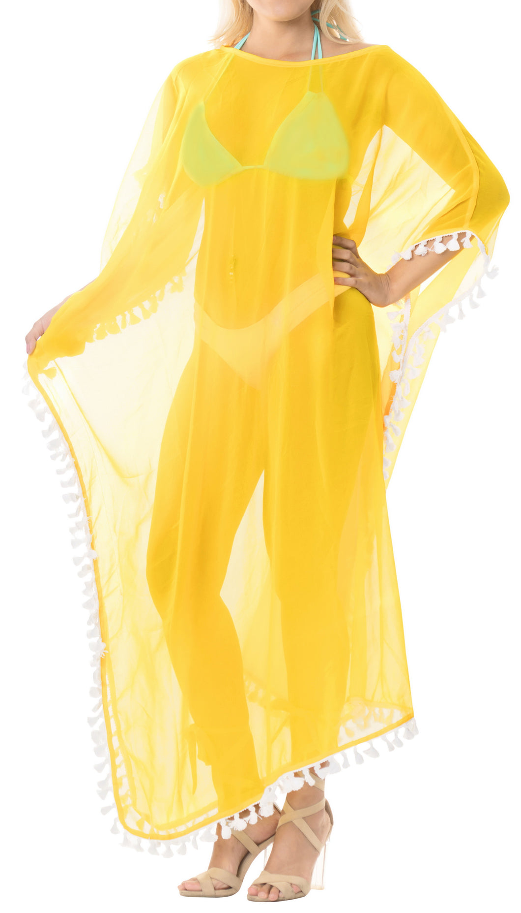 la-leela-chiffon-solid-long-caftan-vacation-top-yellow_4110-osfm-14-18w-l-2x-yellow_b522