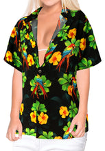 Load image into Gallery viewer, la-leela-womens-beach-casual-hawaiian-blouse-short-sleeve-button-down-shirt-multicolor-drt153