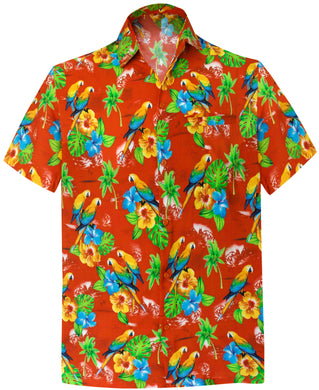 LA LEELA Men's Aloha Hawaiian Shirt Short Sleeve Button Down Casual Beach Party DRT154