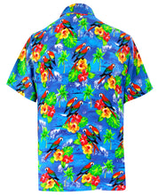Load image into Gallery viewer, LA LEELA Men's Aloha Hawaiian Shirt Short Sleeve Button Down Casual Beach Party DRT154 Blue