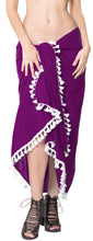 "Load image into Gallery viewer, La Leela Rayon Towel Bathing Beach Girls Sarong Solid 78""X39"" Violet_4071"