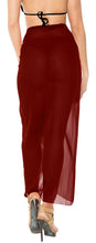 Load image into Gallery viewer, la-leela-sheer-chiffon-swimsuit-cover-up-long-sarong-solid-78x39-maroon_1658-maroon_b225