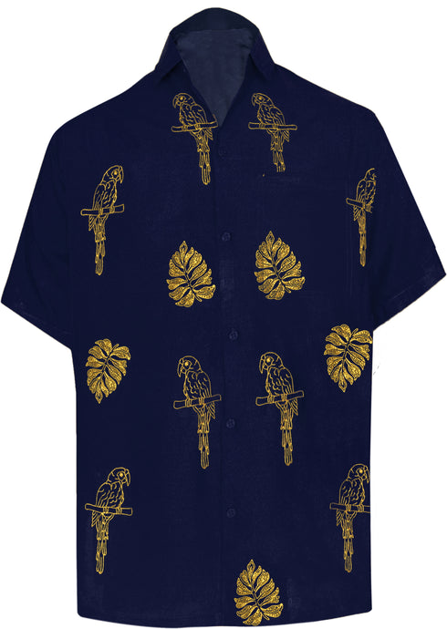 la-leela-mens-beach-hawaiian-casual-aloha-button-down-short-sleeve-shirt-Navy Blue_W861