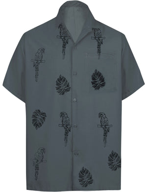 la-leela-mens-beach-hawaiian-casual-aloha-button-down-short-sleeve-shirt-Ghost Grey_W864