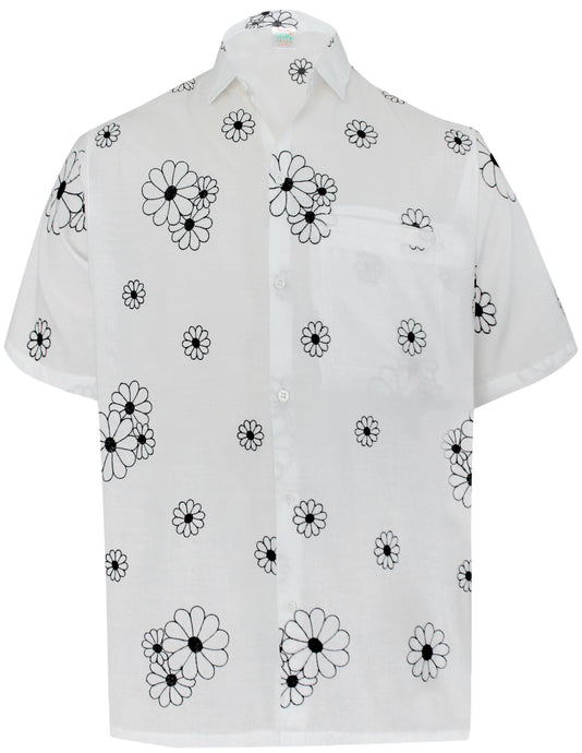 la-leela-mens-beach-hawaiian-casual-aloha-button-down-short-sleeve-shirt-Ghost White_W868