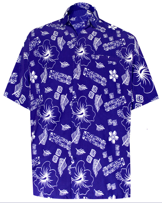 la-leela-shirt-casual-button-down-short-sleeve-beach-shirt-men-aloha-pocket-Blue_W393