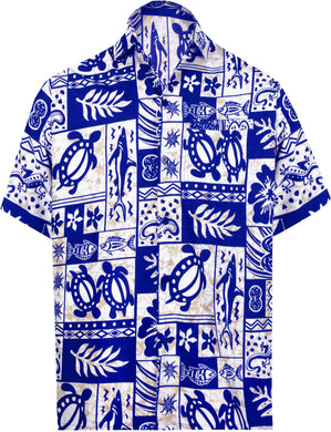 la-leela-shirt-casual-button-down-short-sleeve-beach-shirt-men-aloha-pocket-Ghost White_W128