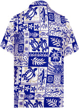 Load image into Gallery viewer, la-leela-shirt-casual-button-down-short-sleeve-beach-shirt-men-aloha-pocket-Ghost White_W128