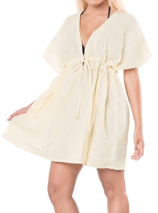 la-leela-bikni-swimwear-chiffon-solid-hawaiian-beach-cover-up-Cream_B75