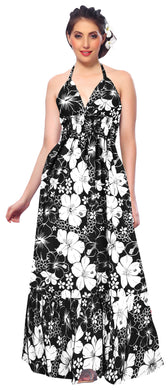 LA LEELA Evening Beach Swimwear Soft  Printed Casual Tube Dress Women's Black 257 OSFM 2-14 [XS- L]