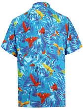 Load image into Gallery viewer, la-leela-shirt-casual-button-down-short-sleeve-beach-shirt-men-aloha-pocket-Shirt-Blue_W601