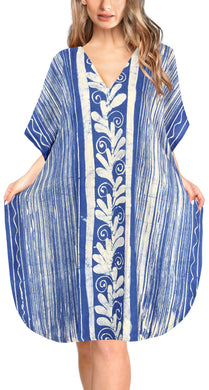 la-leela-cotton-batik-short-caftan-vacation-top-OSFM 14-18W [L- 2X]-Blue_A640