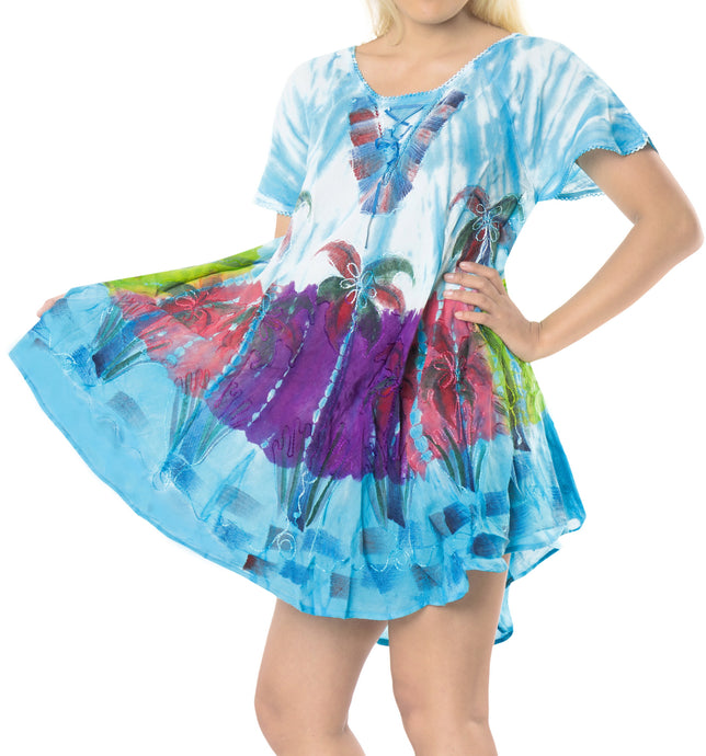 la-leela-casual-dress-beach-cover-up-rayon-tie-dye-vacation-floral-cover-up-womens-blue_509-plus-size