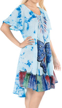 Load image into Gallery viewer, la-leela-rayon-tie-dye-suncasual-dress-beach-cover-upes-luau-coverup-womens-blue_511-plus-size