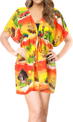 la-leela-bikni-swimwear-chiffon-digital-hd-print-tunic-vintage-cover-up-Yellow_A336