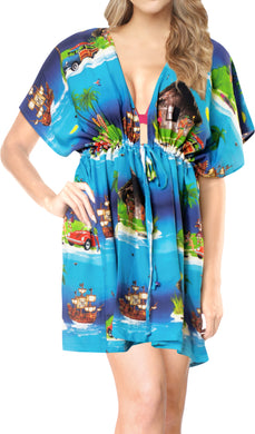 la-leela-bikni-swimwear-chiffon-digital-hd-print-tunic-vintage-cover-up-Blue_A333