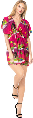 la-leela-bikni-swimwear-chiffon-digital-hd-print-tunic-vintage-cover-up-Pink_A330