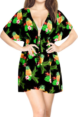 la-leela-bikni-swimwear-chiffon-digital-hd-print-tunic-vintage-cover-up-Halloween Black_A321