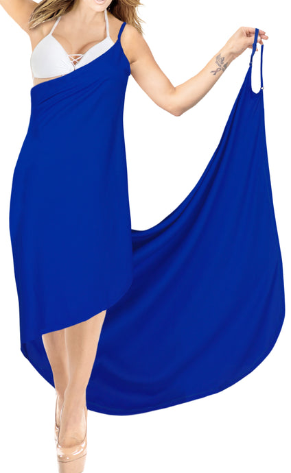 la-leela-rayon-bathing-towel-Women's-Sarong-Swimsuit-Cover-Up-Summer-Beach-Wrap-Skirt-Full-Long-Blue_A302