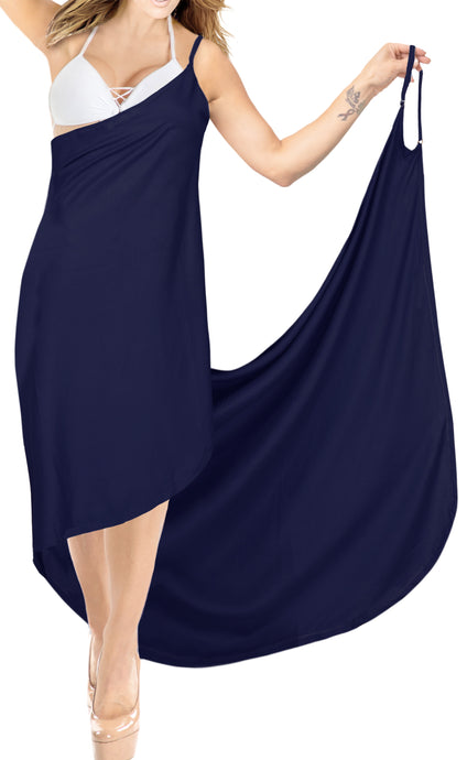 la-leela-rayon-bathing-towel-Women's-Sarong-Swimsuit-Cover-Up-Summer-Beach-Wrap-Skirt-Full-Long-Navy Blue_A299