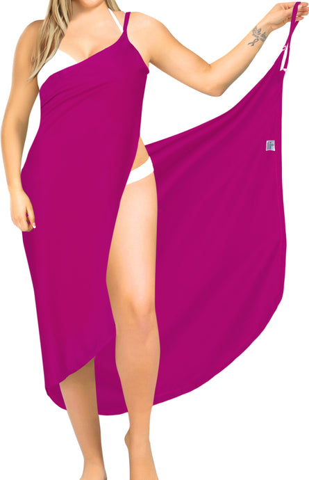 la-leela-rayon-bathing-towel-Women's-Sarong-Swimsuit-Cover-Up-Summer-Beach-Wrap-Skirt-Full-Long-Pink_A289