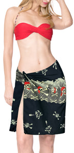 la-leela-likre-swimwear-wrap-party-girl-beach-sarong-printed-78x21-black-pirates-Print