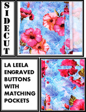 Load image into Gallery viewer, la-leela-shirt-casual-button-down-short-sleeve-beach-shirt-men-aloha-pocket-Shirt-Blue_W616