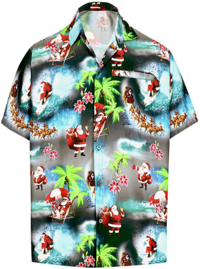 la-leela-mens-casual-beach-hawaiian-shirt-aloha-christmas-santa-front-pocket-short-sleeve-black_aa16