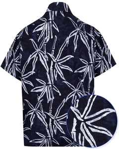 la-leela-men-casual-wear-holiday-cotton-hand-palm-tree-printed-batik-black-aloha-shirt