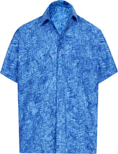 Load image into Gallery viewer, la-leela-men-casual-wear-cotton-hand-printed-royal-blue-size-x-xxl