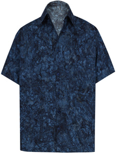 la-leela-men-casual-wear-cotton-hand-printed-navy-blue-hawaiian-aloha-shirt-size-s-xxl