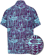 Load image into Gallery viewer, LA LEELA Men's Wear 100% cotton Hawaiian Printed Shirt Casual and Party wear