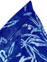 Load image into Gallery viewer, la-leela-men-casual-wear-cotton-hand-palm-tree-printed-batik-royal-blue-size-s-xxl