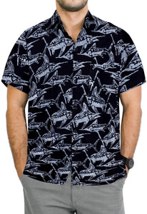 la-leela-men-casual-wear-cotton-hand-print-batik-black-grey-size-s-xxl