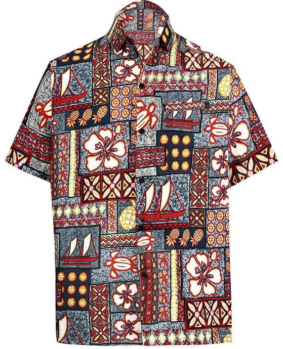 la-leela-hawaiian-shirt-for-men-short-sleeve-front-pocket-beach-caribbean-grey-grey