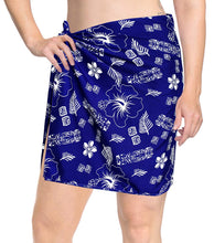 Load image into Gallery viewer, LA LEELA Swimsuit Cover-Up Sarong Beach Wrap Skirt Hawaiian Sarongs for Women Plus Size Short Half Mini ZZ