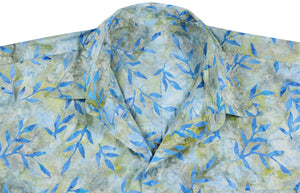 la-leela-men-casual-wear-cotton-hand-leaf-printed-blue-hawaiian-shirt-size-s-xxl