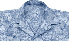 Load image into Gallery viewer, la-leela-men-casual-wear-cotton-hand-floral-printed-grey-hawaiian-shirt-size-s-xxl
