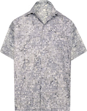 Load image into Gallery viewer, la-leela-men-casual-men-wear-summer-cotton-hand-print-batik-grey-aloha-size-s-xxl