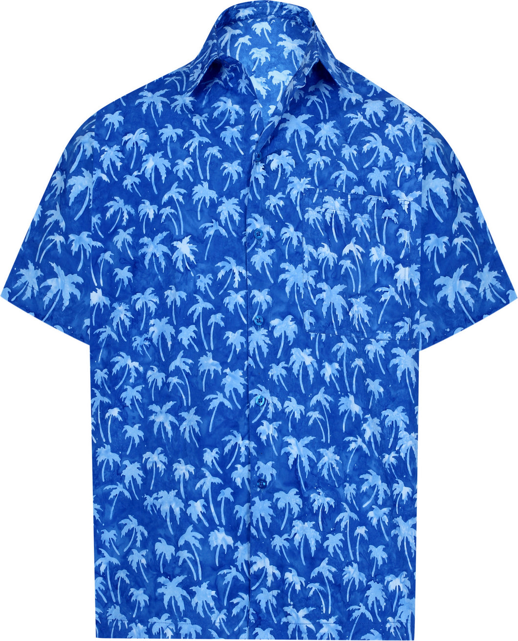 la-leela-men-casual-wear-cotton-palm-tree-hand-printed-royal-blue-hawaiian-shirt-size-s-xxl