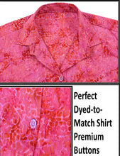 Load image into Gallery viewer, la-leela-womens-beach-wear-button-down-short-sleeve-casual-100-cotton-hand-printed-blose-pink