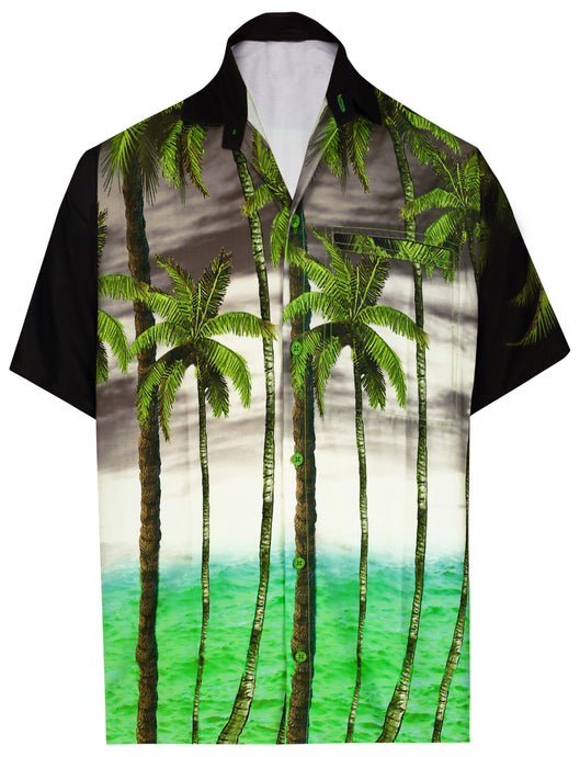 la-leela-shirt-casual-button-down-short-sleeve-beach-shirt-men-aloha-pocket-Shirt-Halloween Black_AA167