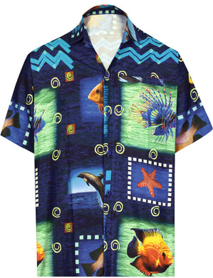 la-leela-shirt-casual-button-down-short-sleeve-beach-shirt-men-aloha-pocket-Blue_AA169