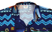 Load image into Gallery viewer, la-leela-shirt-casual-button-down-short-sleeve-beach-shirt-men-aloha-pocket-Blue_AA169