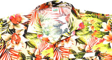 Load image into Gallery viewer, la-leela-shirt-casual-button-down-short-sleeve-beach-shirt-men-aloha-pocket-Shirt-Cream_AA233