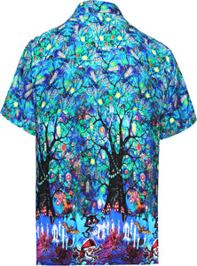 LA-LEELA-Men's-Camp-Hawaiian-Scary-Halloween-Party-Costume-Pumpkin-Witch-Shirt-Royal Blue_AA239