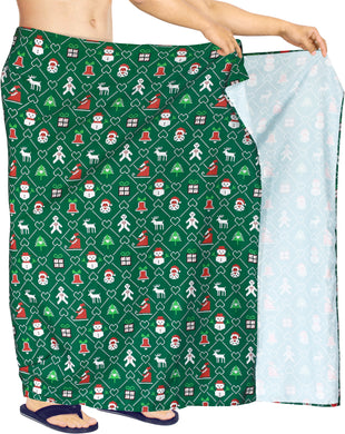 LA LEELA Men's Swimsuit Beach Hawaii Sarong Christmas Day 78