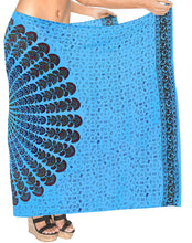 Load image into Gallery viewer, la-leela-womens-sarong-beach-swimsuit-bikini-cover-up-wrap-pareo-peacock