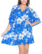 Load image into Gallery viewer, LA LEELA Bikini Swim Beach wear Swimsuit Cover up Women Kimono Dress Printed