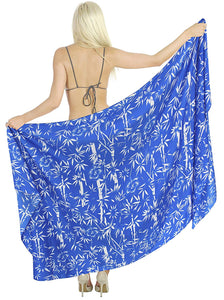 LA LEELA Women Beachwear Sarong Bikini Cover up Wrap Bathing Suit 30 Plus Size
